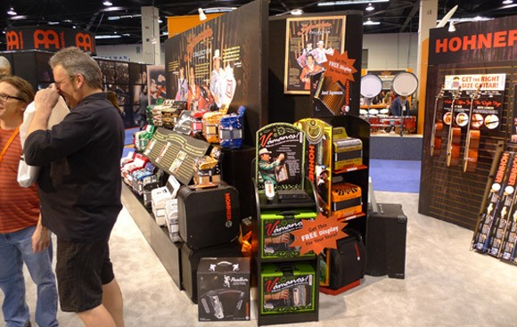 Hohner Vamonos display at NAMM