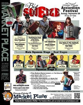 'The Big Squeeze' Orange County Accordion Festival poster