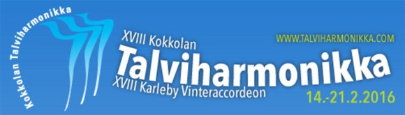 XVIII Kokkola Winter Accordion Festival header