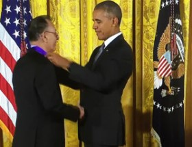 Santiago Jimenez Jr medal presenation by US President Barak Obama