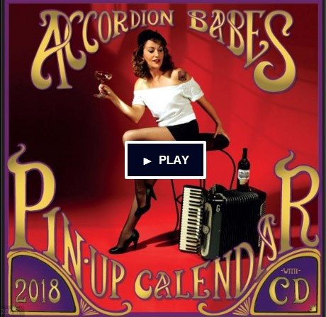 Accordion Babes Pin-up Calendar 2018