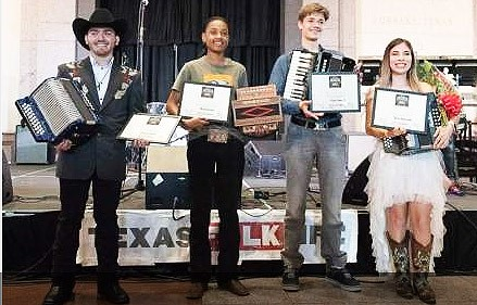 TEXAS FOLKLIFE CROWNS 2019 BIG SQUEEZE YOUTH ACCORDION WINNERS