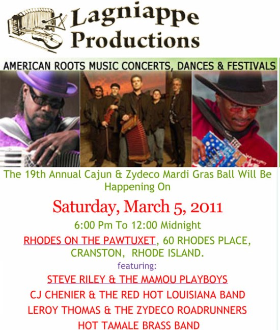 19th Annual Cajun & Zydeco Mardi Gras Ball