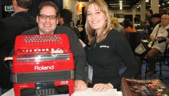 Roland USA/Accordion Division Steve Albini and Amanda Whiting